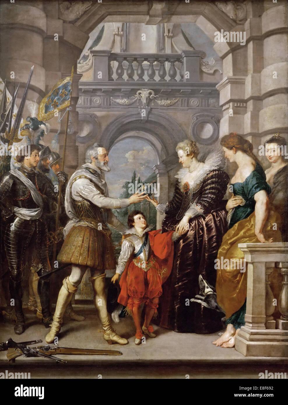 El envío de la Regencia (Marie de Médicis ciclo). Artista: Rubens, Pieter Paul (1577-1640) Imagen De Stock