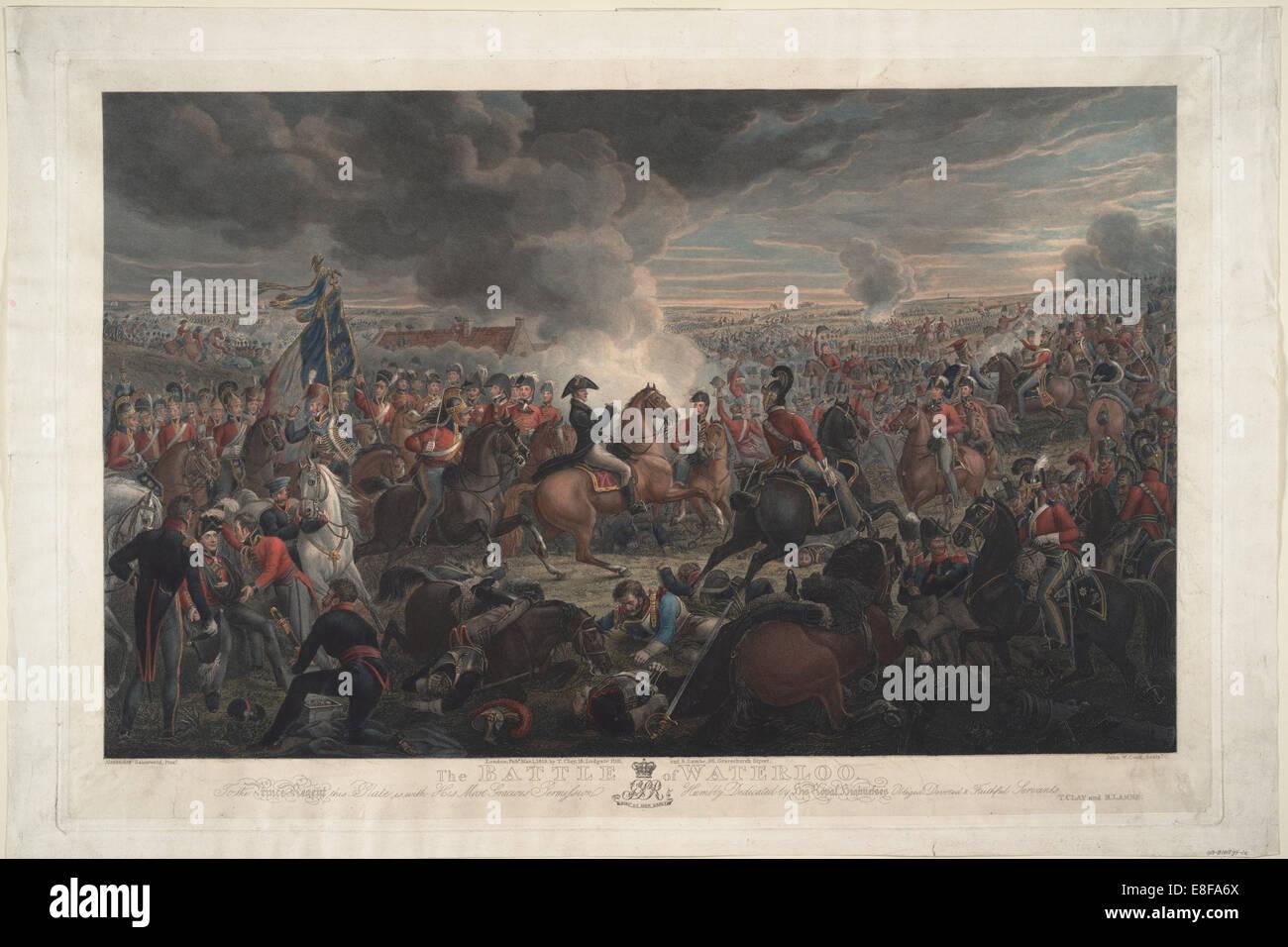 La batalla de Waterloo. Artista: Sauerweid, Alexander Ivanovich (1783-1844) Imagen De Stock