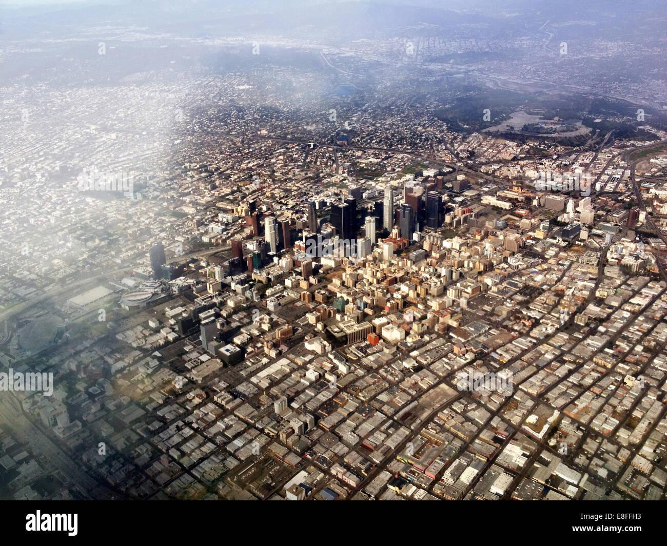 Vista aérea de Los Angeles, California, Estados Unidos, EE.UU. Imagen De Stock