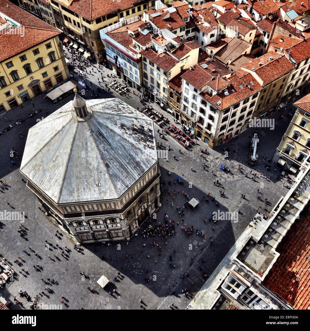 Italia, Florencia, vista desde el Duomo de Florencia. Imagen De Stock