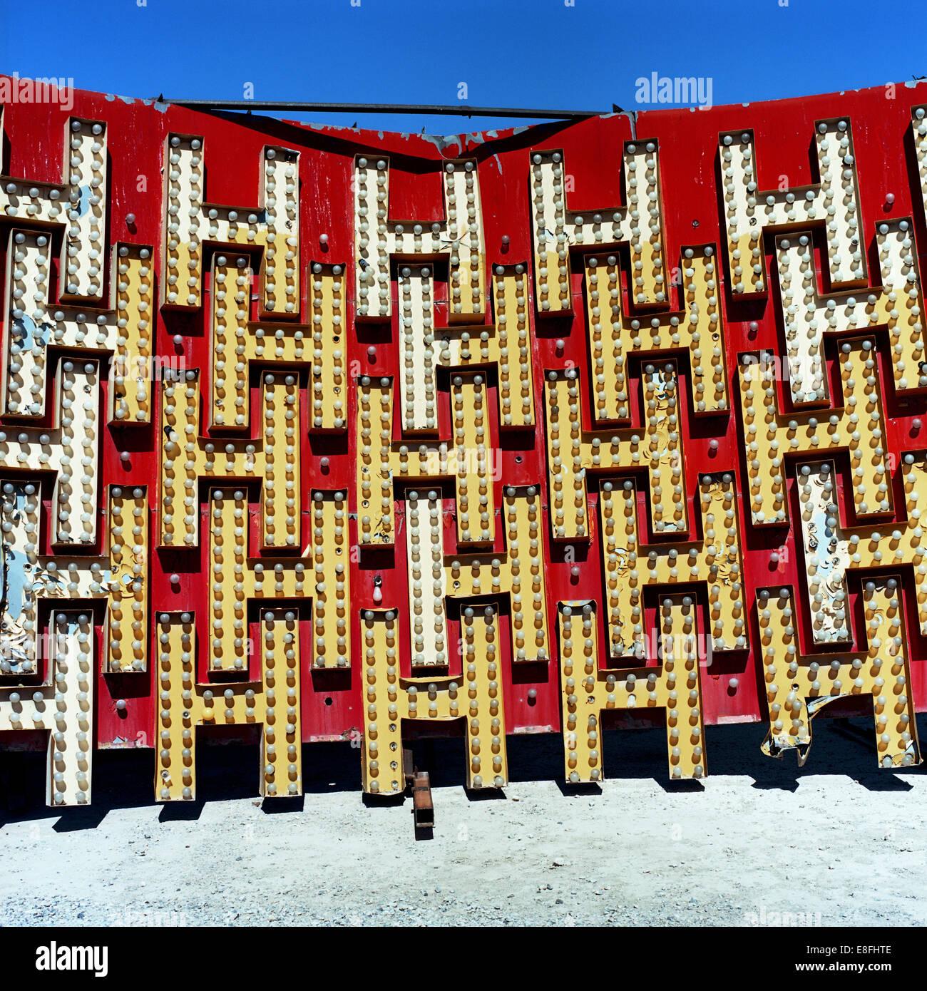 Estados Unidos, Nevada, el condado de Clark, conjunto de letras mayúsculas aislado H Imagen De Stock