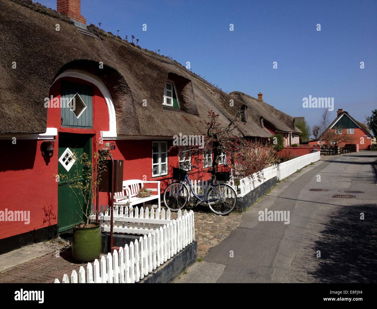 Cabañas de paja tradicionales, Fanoe, Dinamarca Imagen De Stock