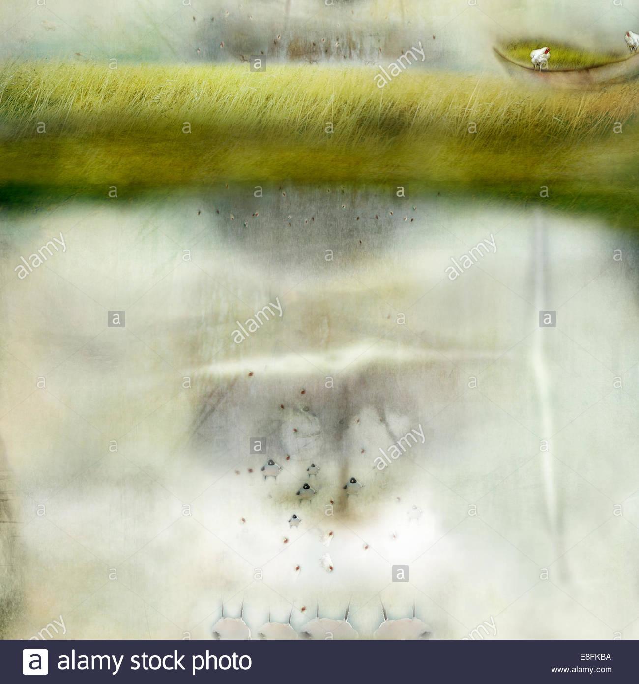 Captura abstracta de estanque Imagen De Stock