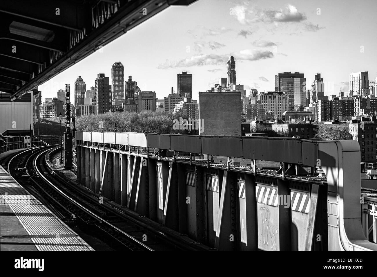 Ee.Uu., Estado de Nueva York, Ciudad de Nueva York, Queens Plaza Foto de stock