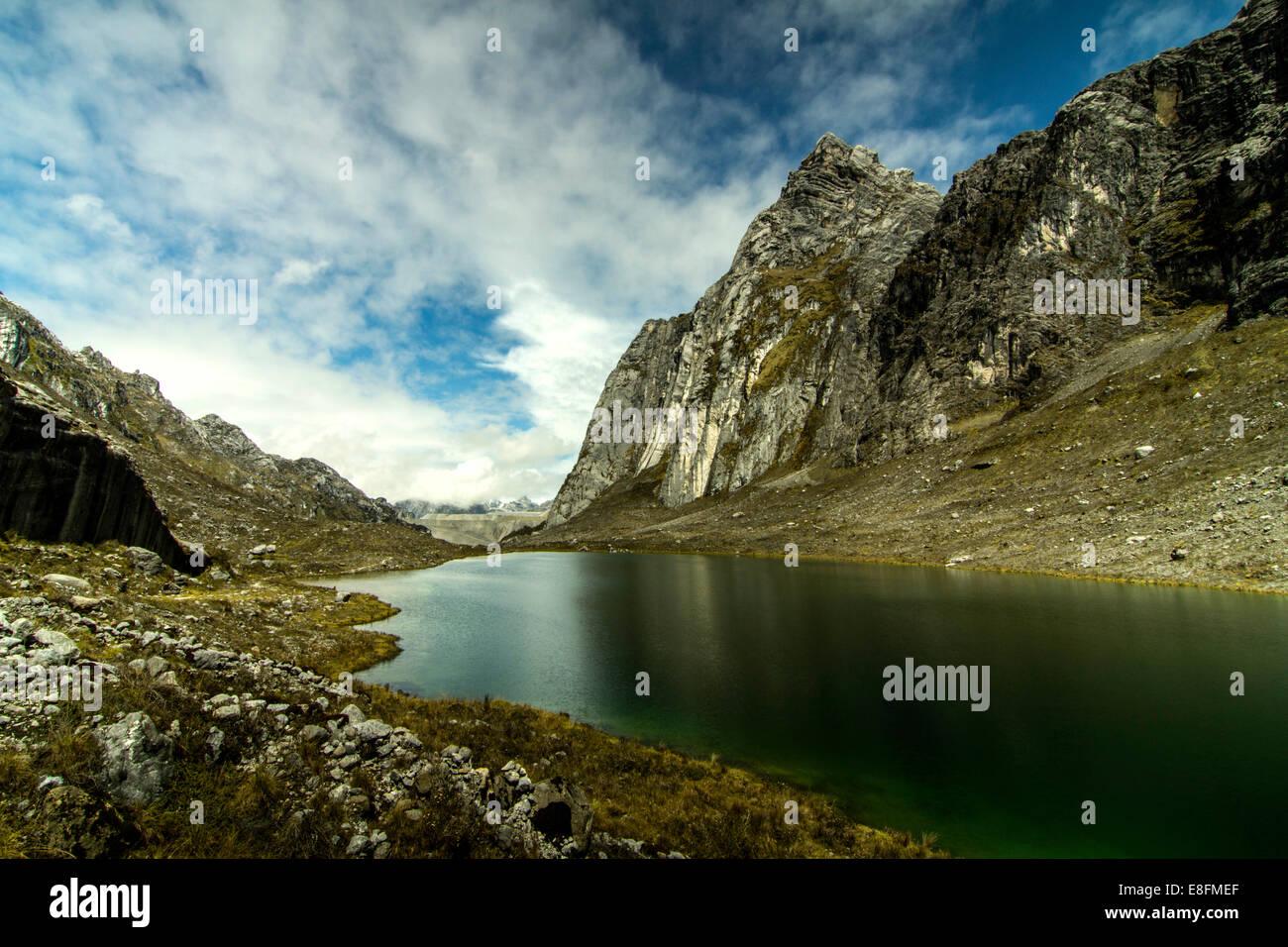 Indonesia, Papua, Lorents Jayawijaya, Parque Nacional de Conservación, Vista de Meren East Lake Imagen De Stock