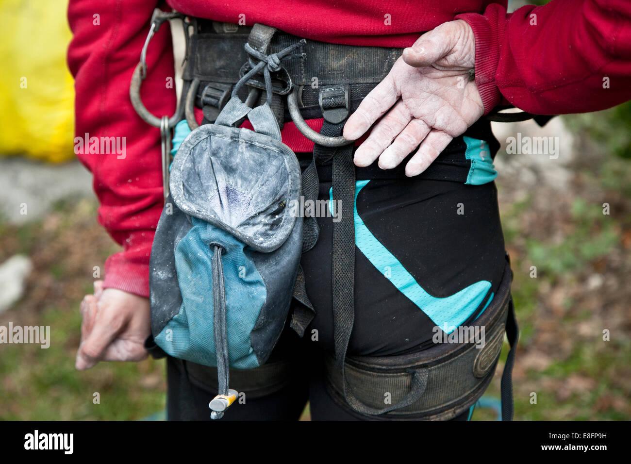 Italia, parte media de mujeres escalador Imagen De Stock