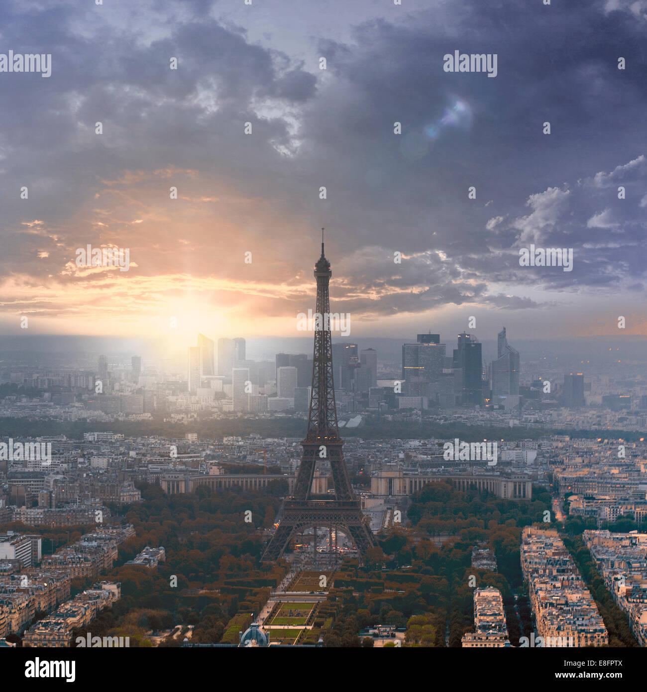 Francia, Paris, Torre Eiffel Imagen De Stock