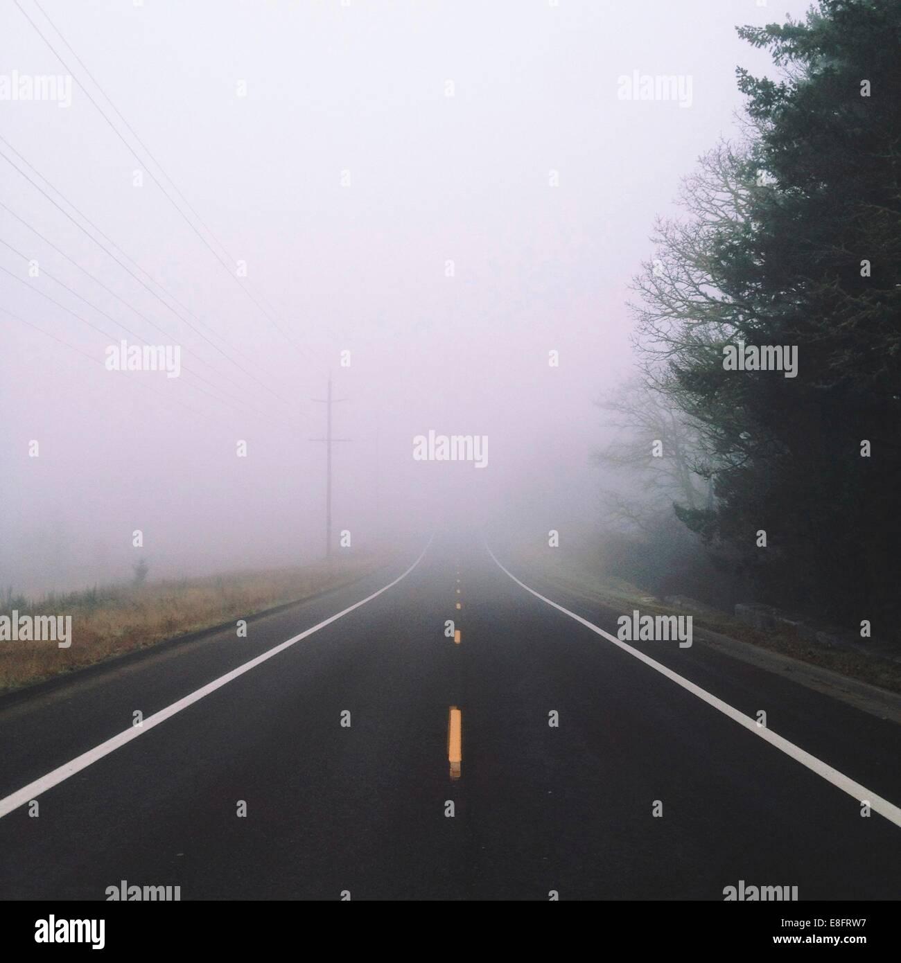 Niebla en camino Imagen De Stock