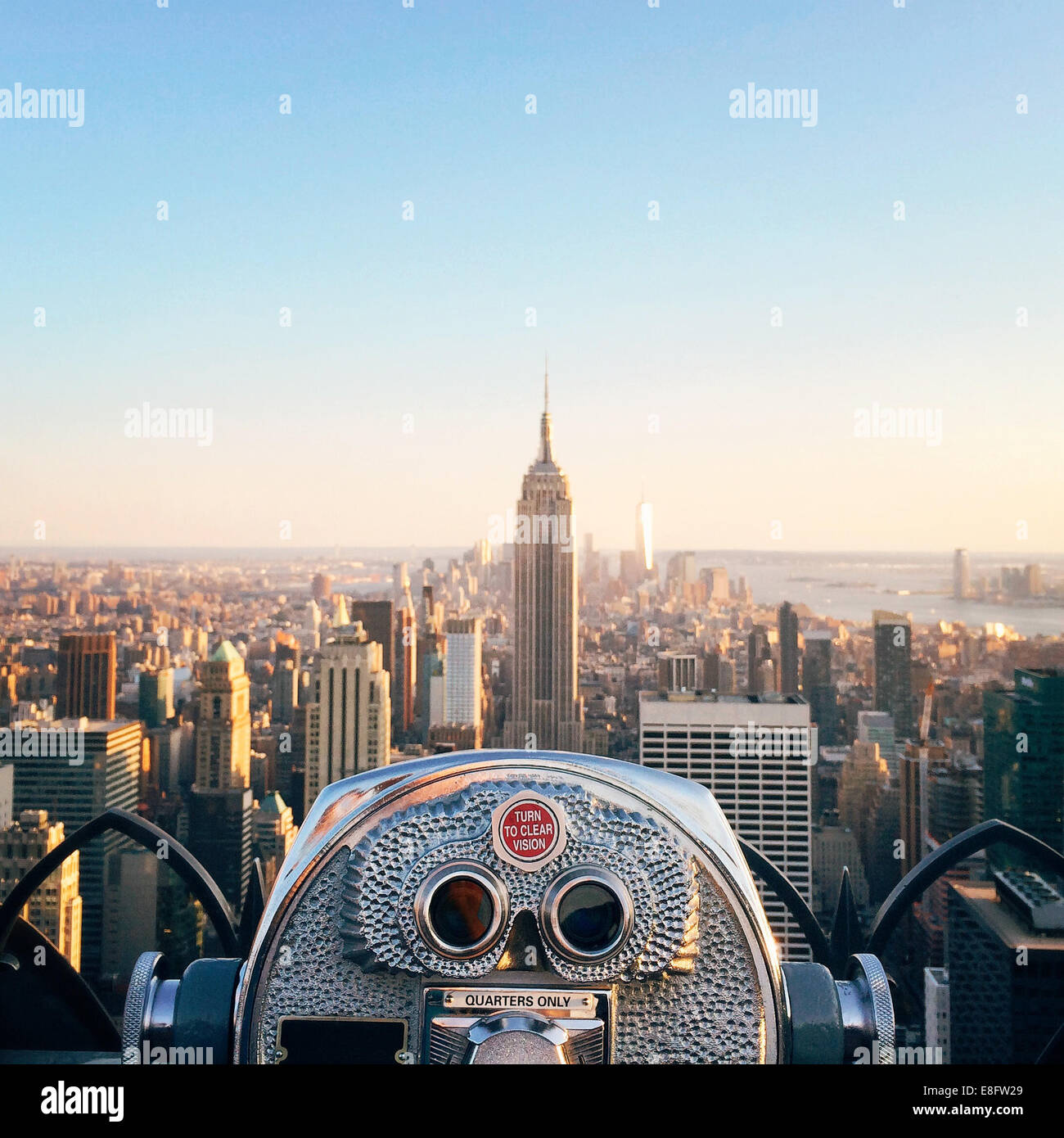 Ee.Uu., Estado de Nueva York, Ciudad de Nueva York, Vista del edificio Empire State. Foto de stock