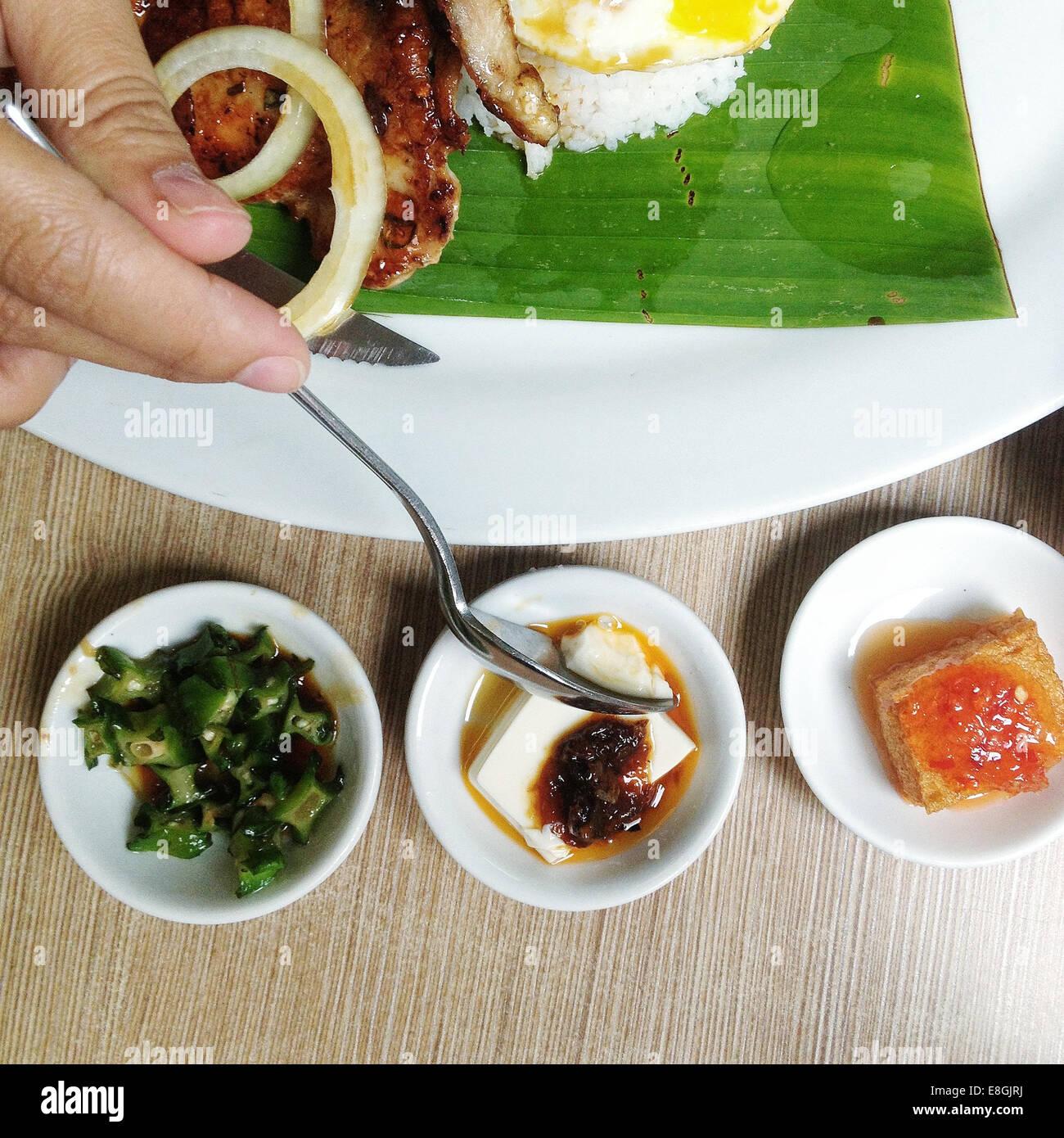 Malasia, Kuala Lumpur, tradicional comida asiática Imagen De Stock