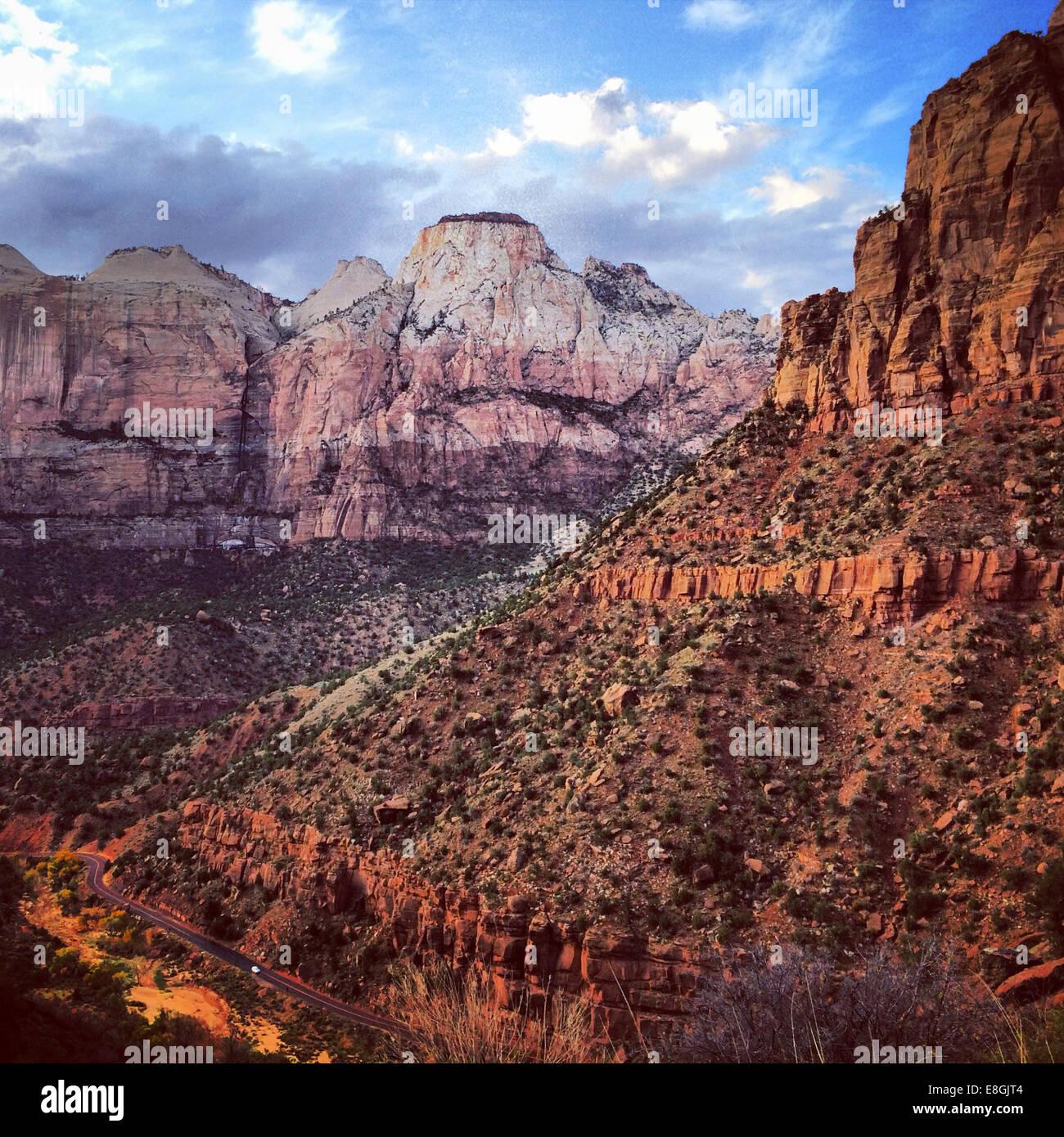 Parque Nacional de Zion, Utah, Estados Unidos, EE.UU. Imagen De Stock