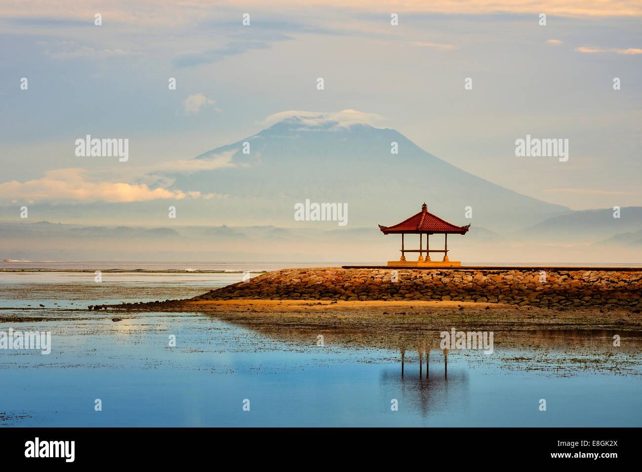 Indonesia, Bali, Sanur, mañana en la playa de Sanur Imagen De Stock