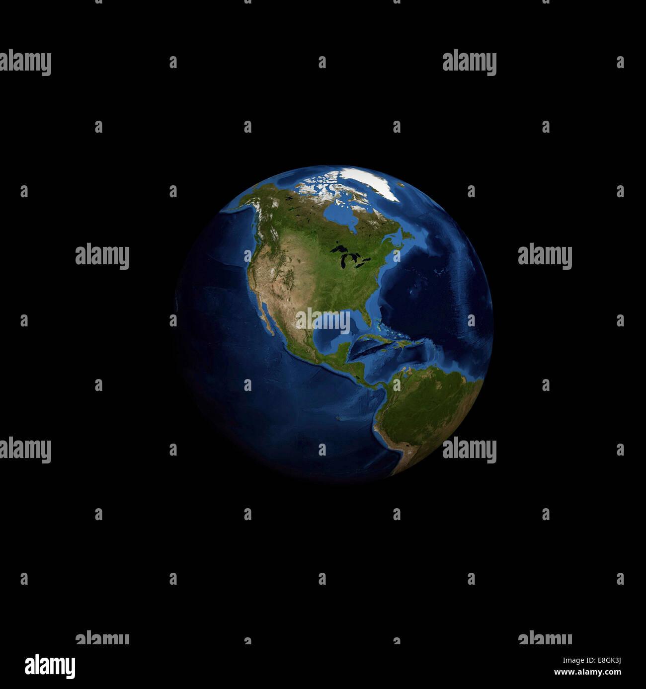Imagen generada digitalmente del planeta tierra Foto de stock