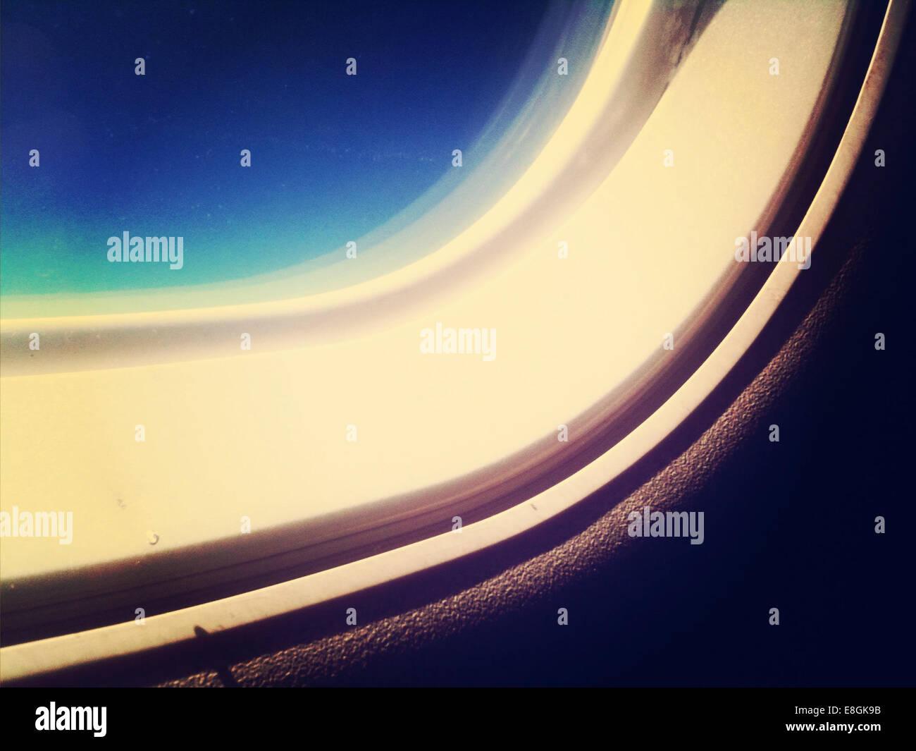 Parte de la ventana de la cabina de mando Imagen De Stock