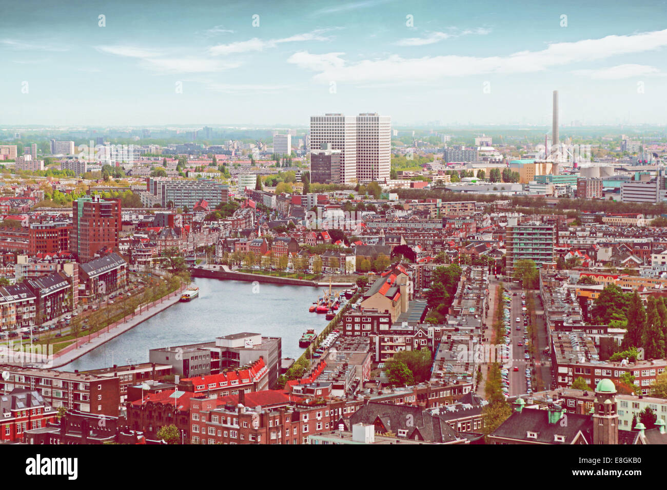 Holanda, Vista de Rotterdam Imagen De Stock