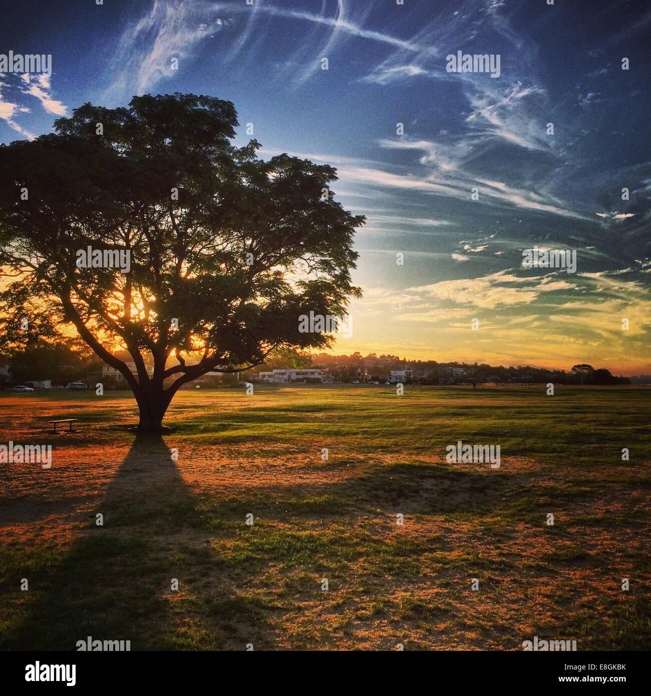 Australia, el anochecer en Perth. Imagen De Stock