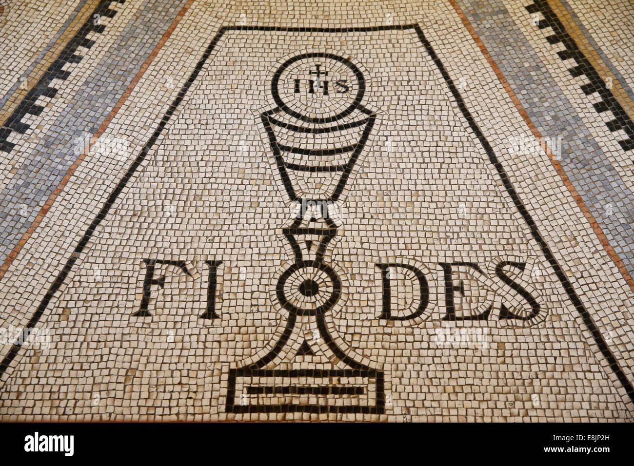 Iglesia de las Bienaventuranzas. La fe. Imagen De Stock