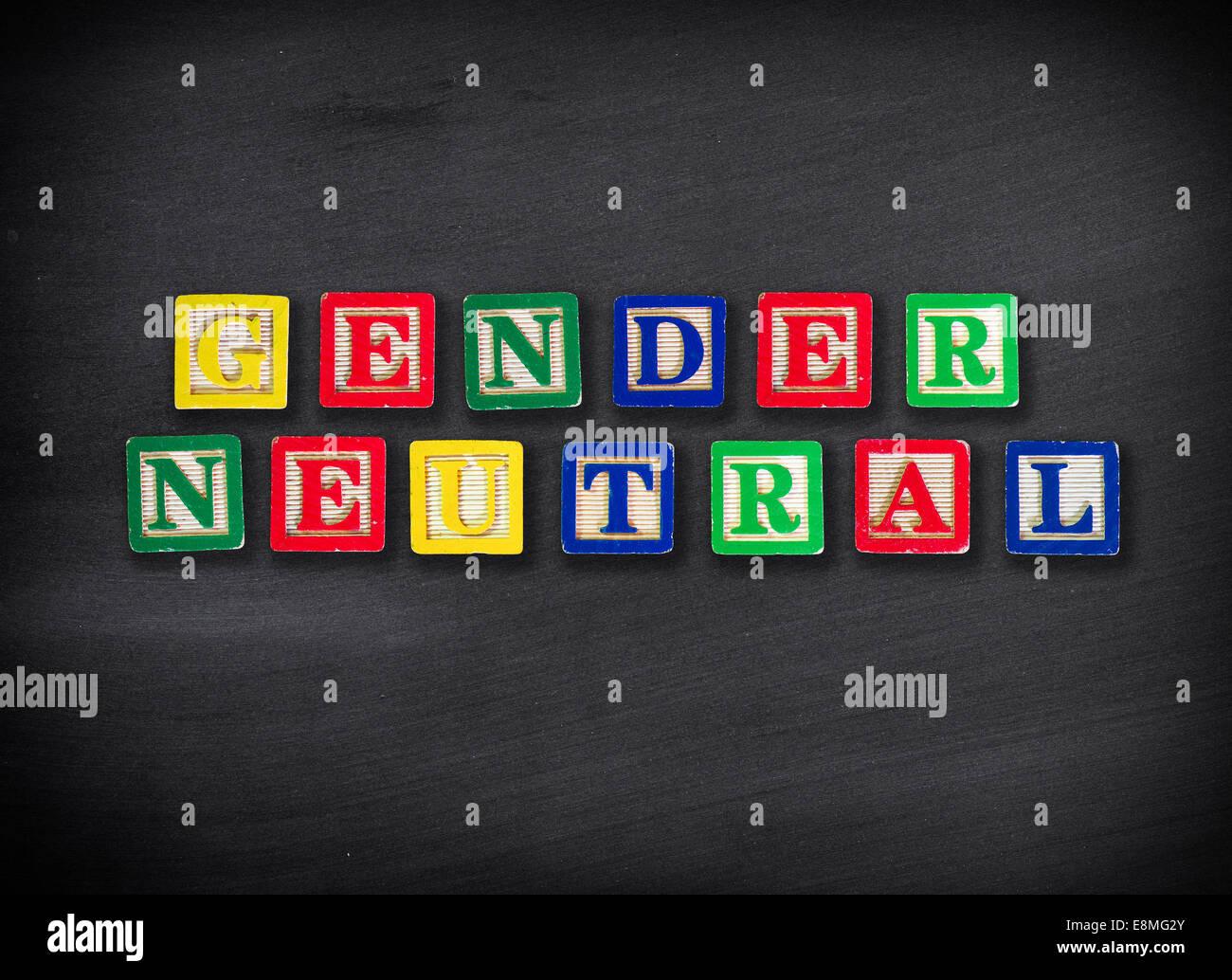 Concepto neutral de género Imagen De Stock