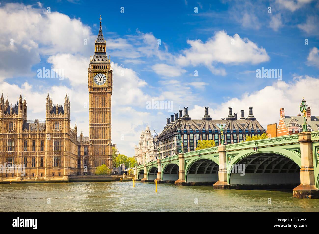 El Big Ben y las Casas del Parlamento Imagen De Stock