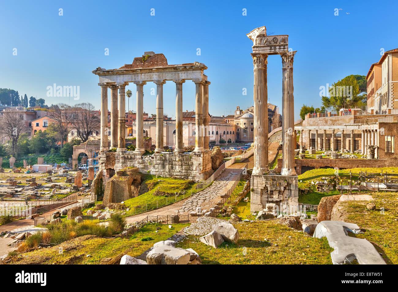 Ruinas Romanas en Roma, Foro Imagen De Stock