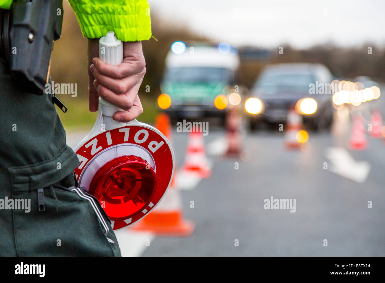 La policía de control de tráfico Imagen De Stock