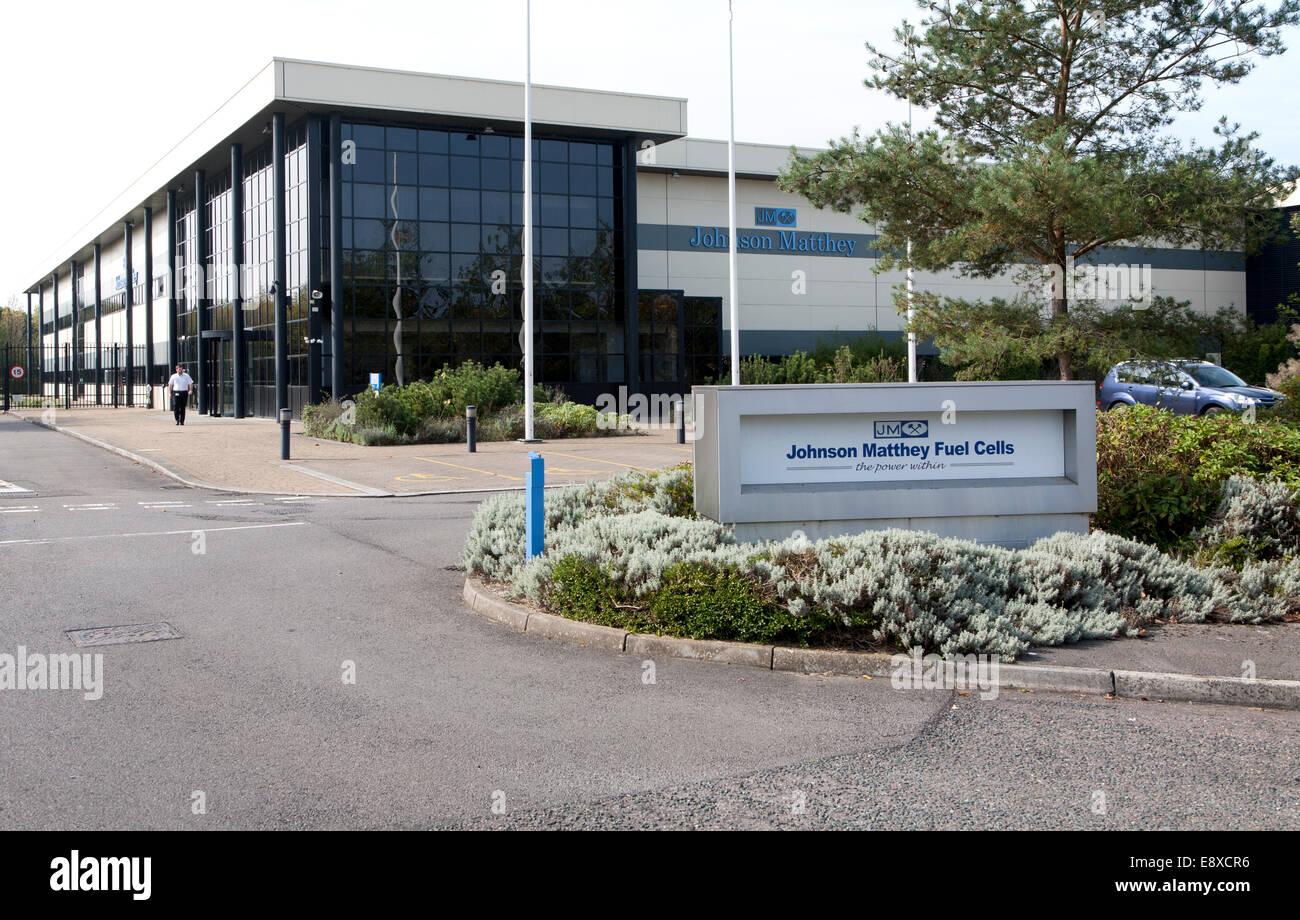 Construcción de celdas de combustible de Johnson Matthey, Campos Lydiard business park, Swindon, Inglaterra, Imagen De Stock