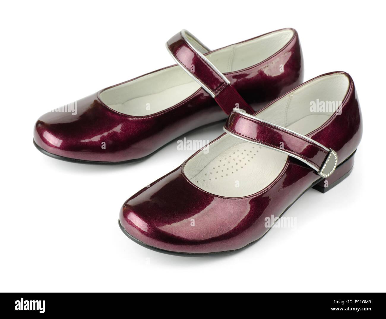 Los zapatos de cuero de patente Foto de stock