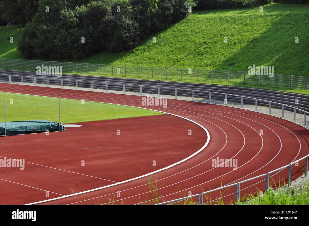 Pista de atletismo Imagen De Stock