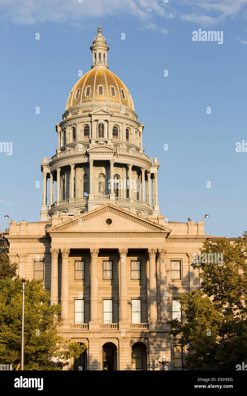 El edificio del Capitolio de Denver, Denver, Colorado, EE.UU. Imagen De Stock