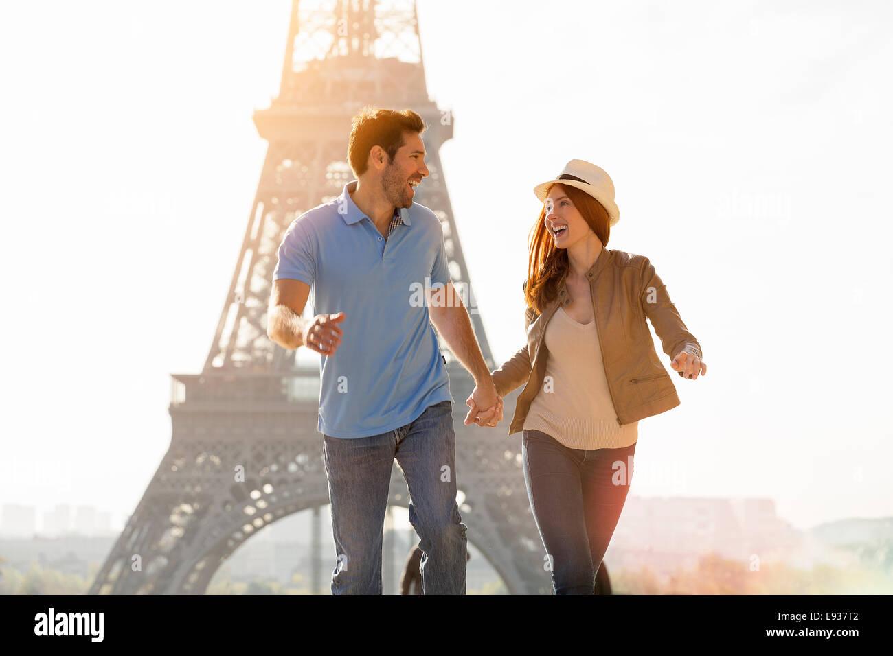 Par visitar París Imagen De Stock