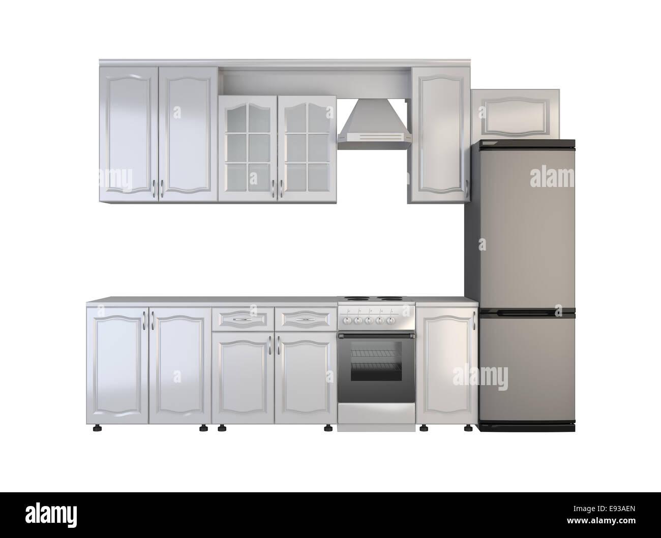 Muebles de Cocina Integral sobre fondo blanco Foto & Imagen ...