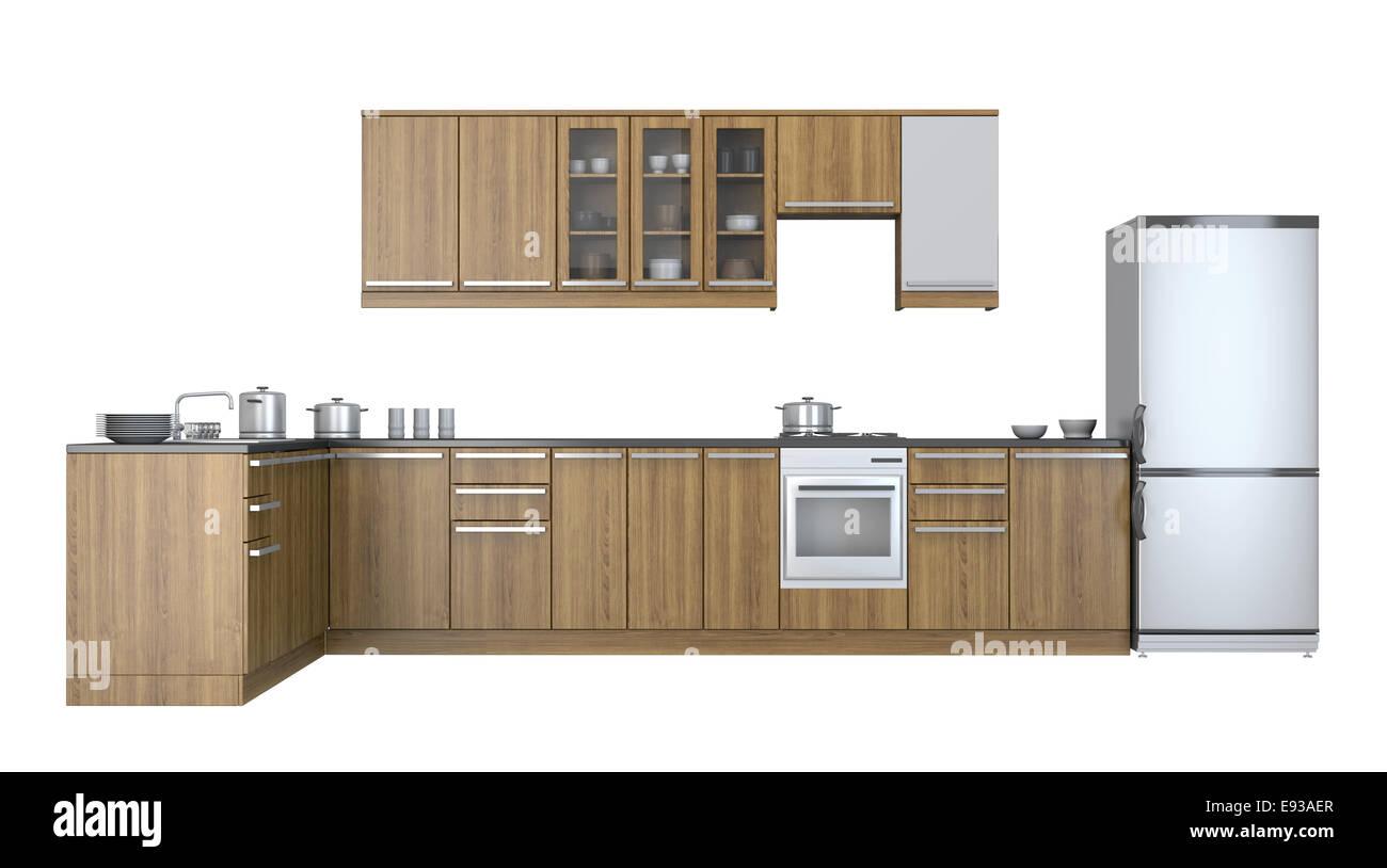 Muebles de Cocina Integral sobre fondo blanco Foto & Imagen De Stock ...