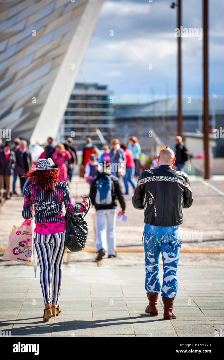 Giro d'Itala en Titanic Quarter, Belfast, Irlanda del Norte de 2014 Imagen De Stock