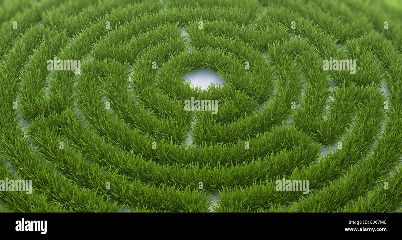 Laberinto de hierba Imagen De Stock