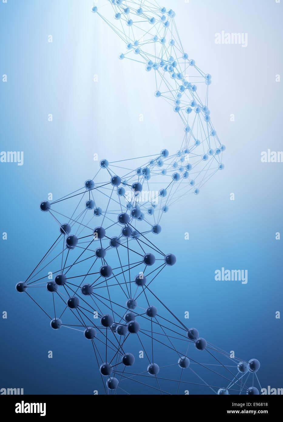 Resumen Las redes 3D - concepto de comunicación y de internet Imagen De Stock