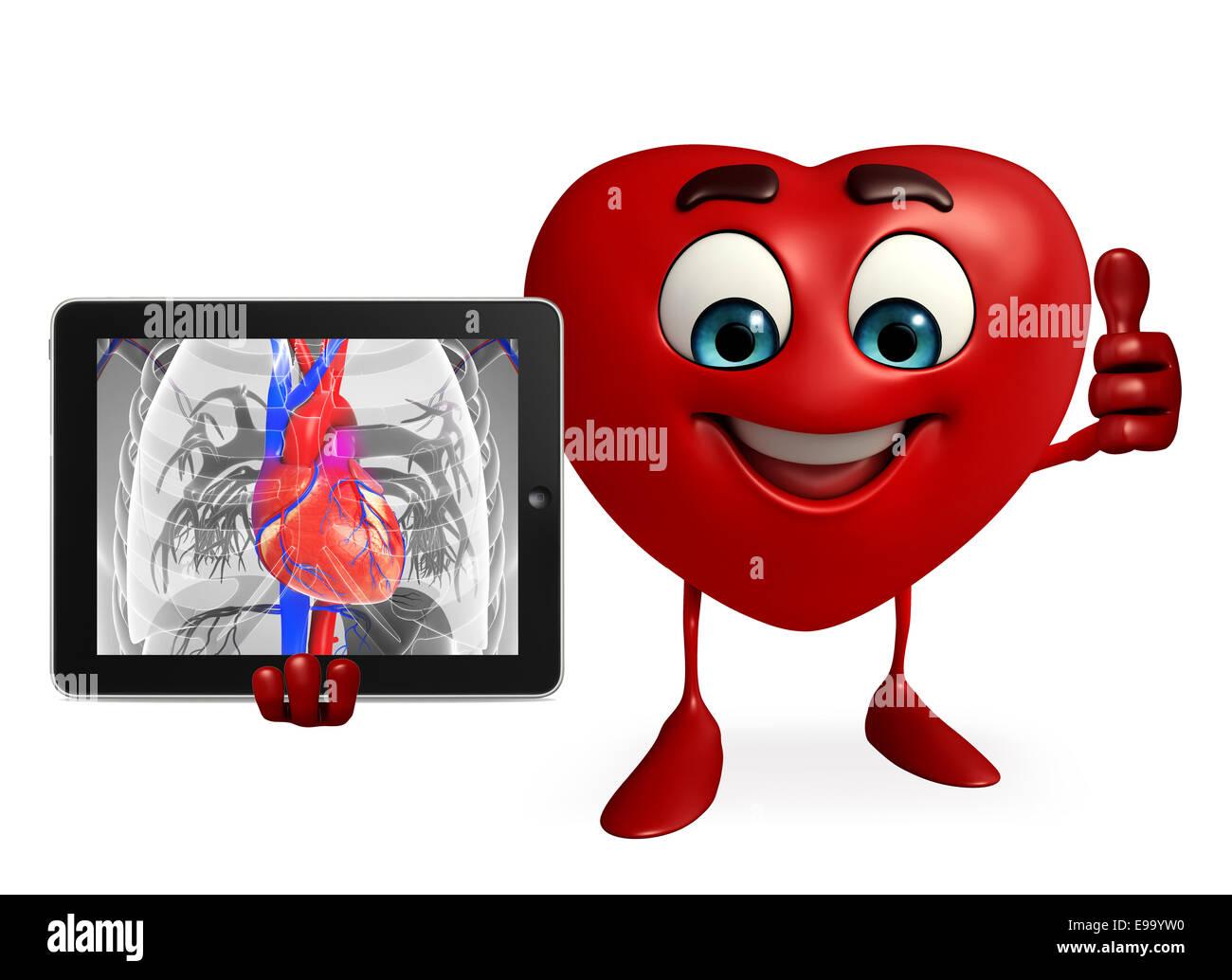 Personaje de dibujos animados de forma de corazón con corazón ...