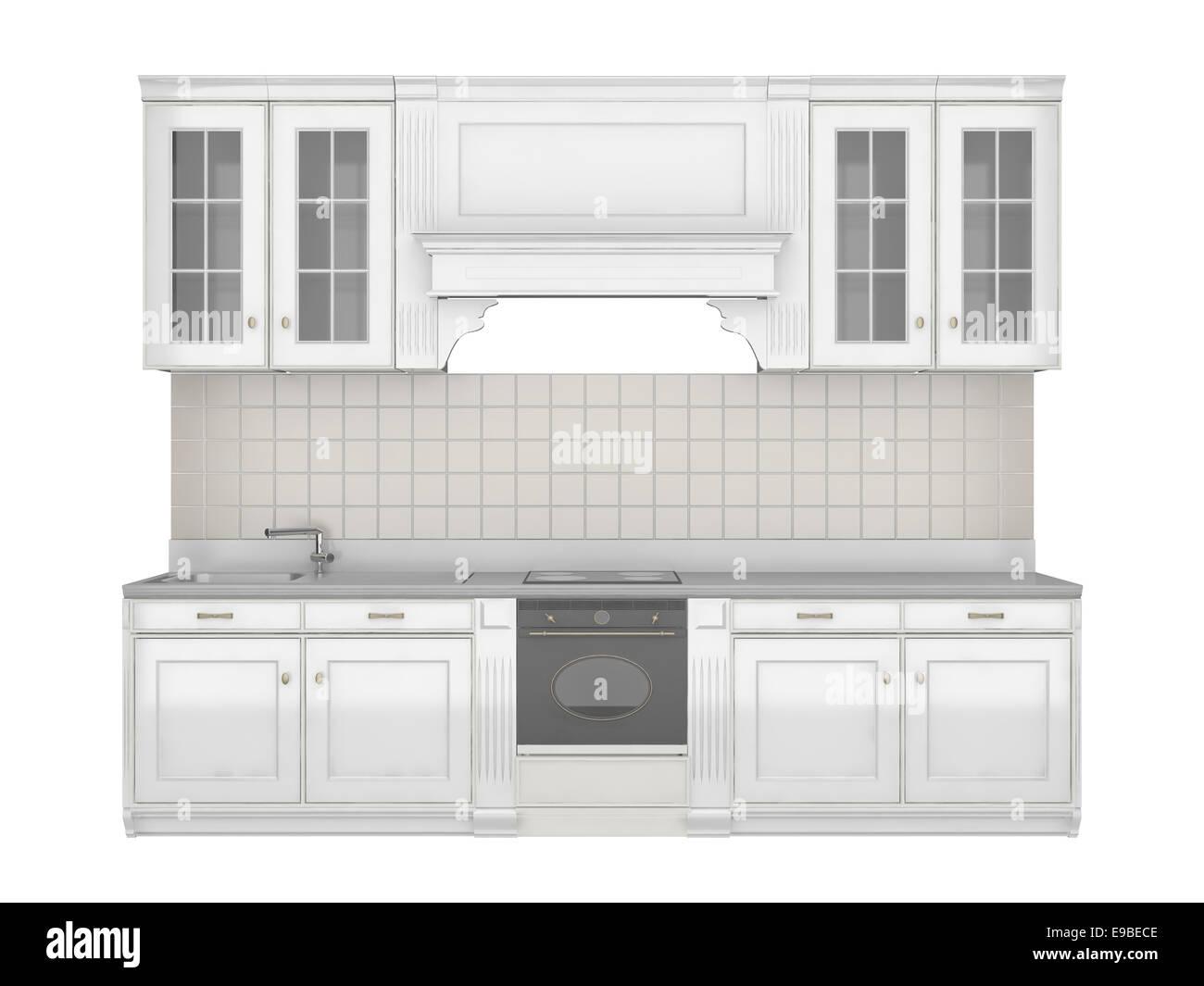 Muebles de Cocina Integral aislado sobre fondo blanco Foto ...