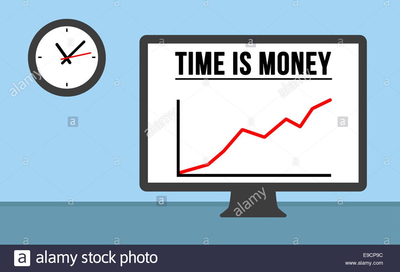 El tiempo es dinero - Ilustración concepto Imagen De Stock