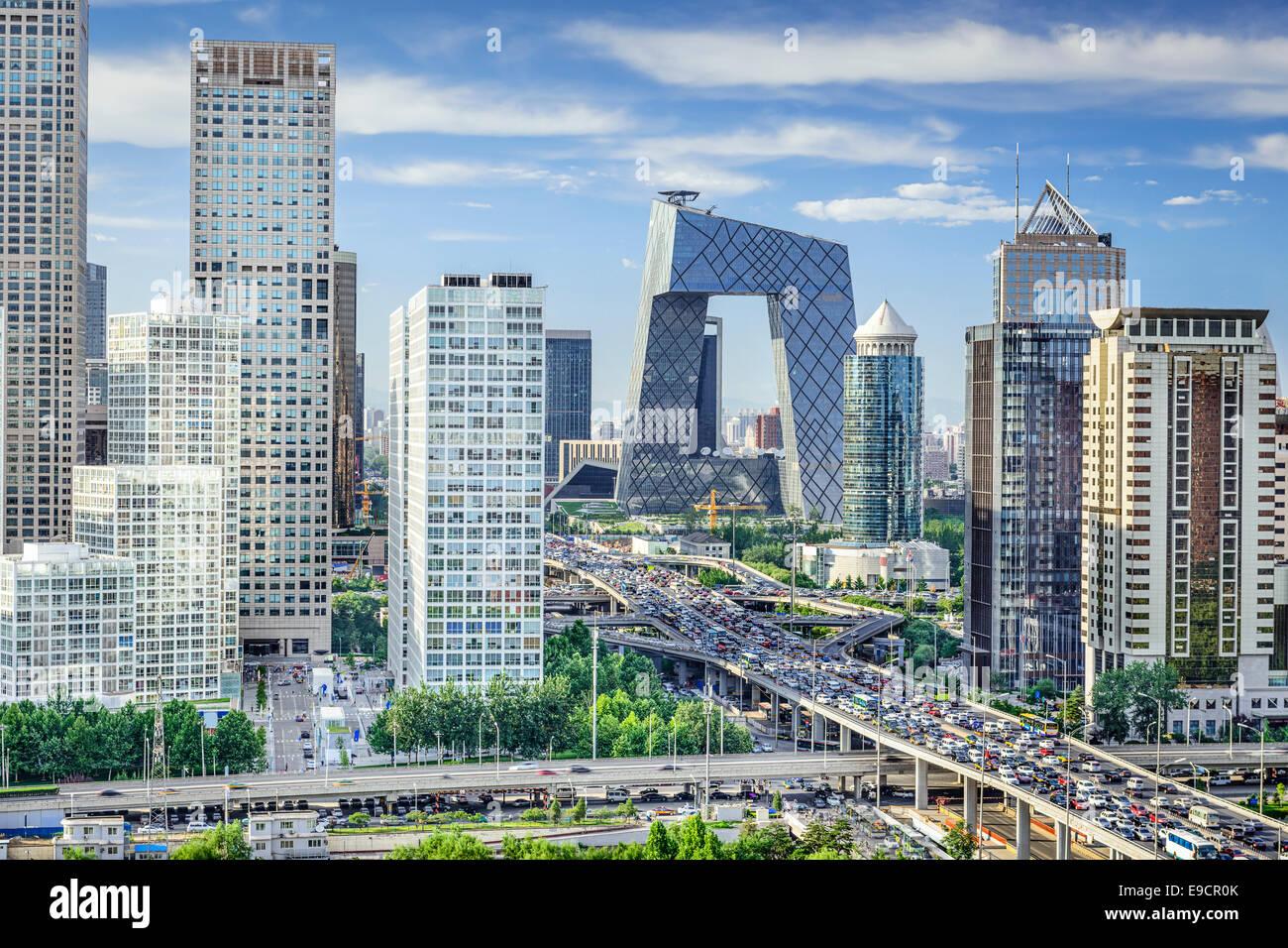 Beijing, China Skyline del distrito financiero. Imagen De Stock