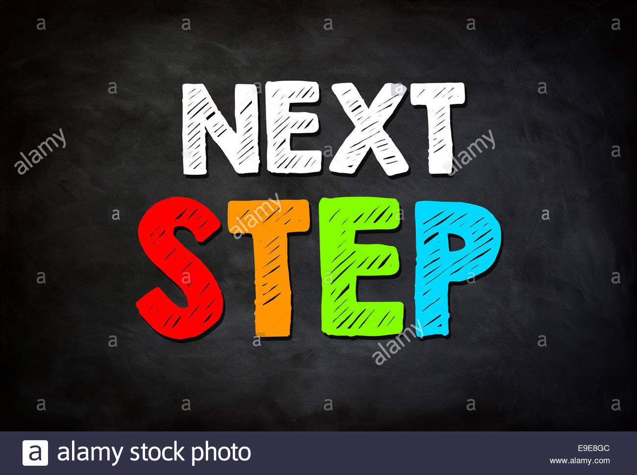 Siguiente paso: Concepto Imagen De Stock