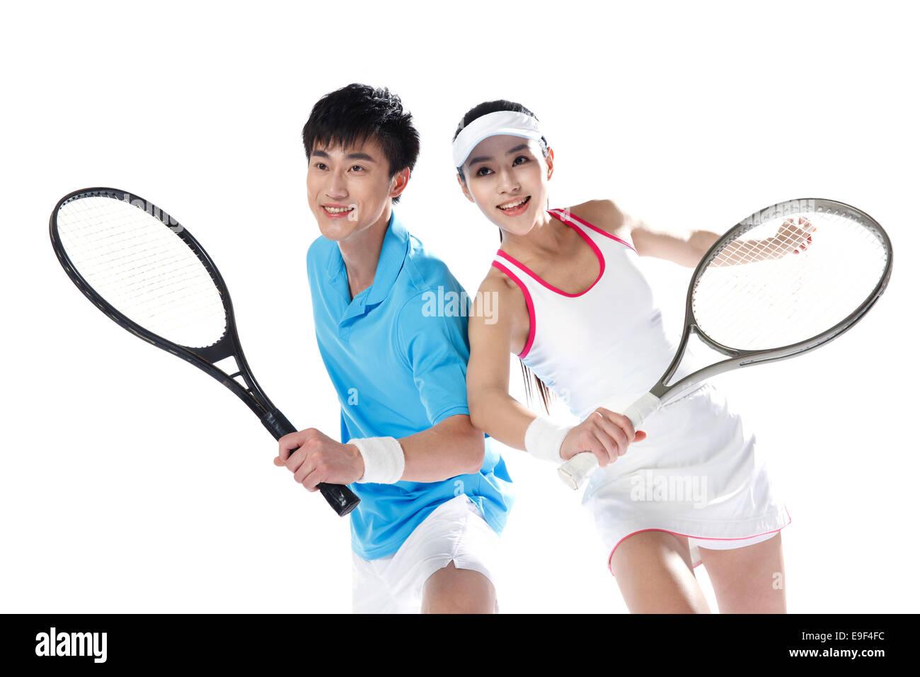 Jugadores de tenis Imagen De Stock
