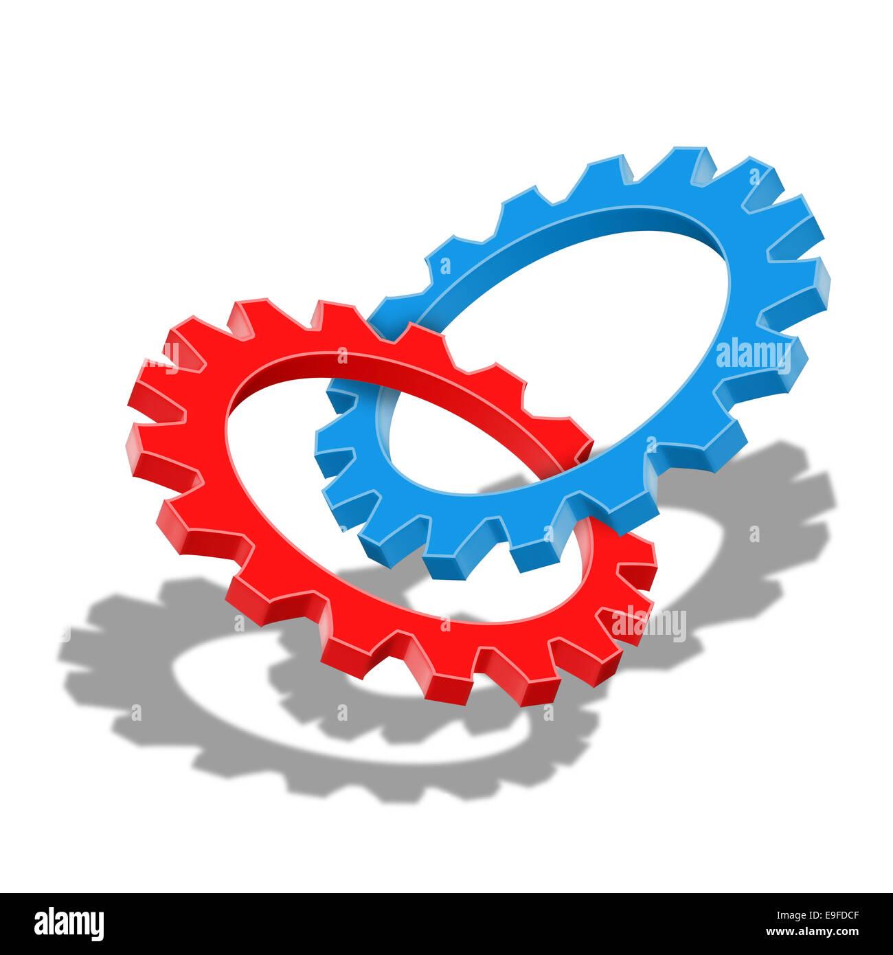 El trabajo en equipo y la sinergia Imagen De Stock