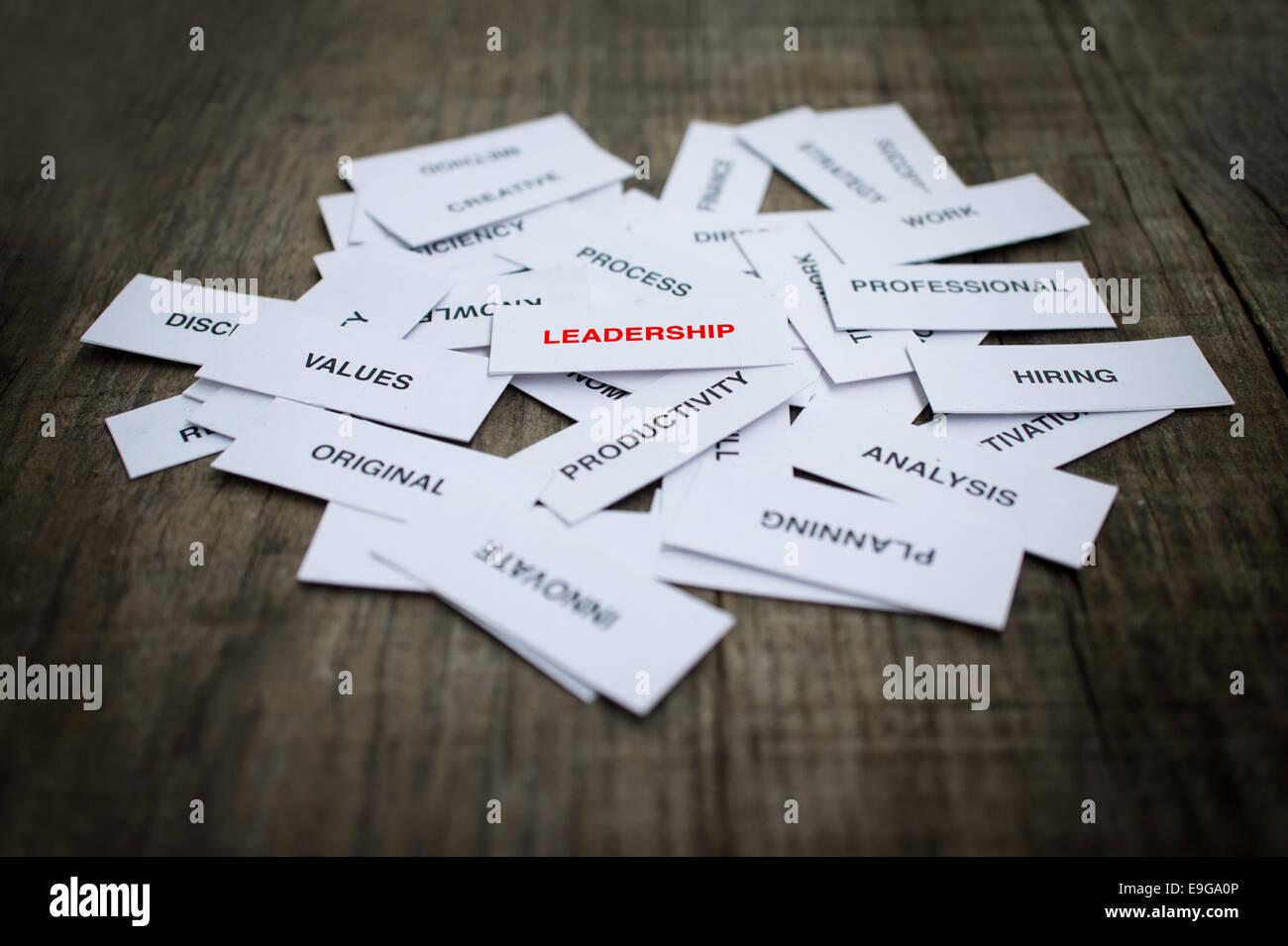 Concepto de liderazgo Foto de stock
