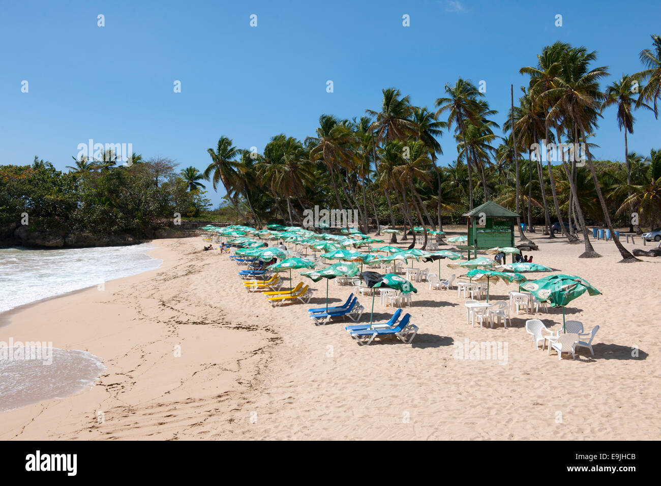 Dominikanische republik, osten, Juan Dolio, playa caribe Foto de stock