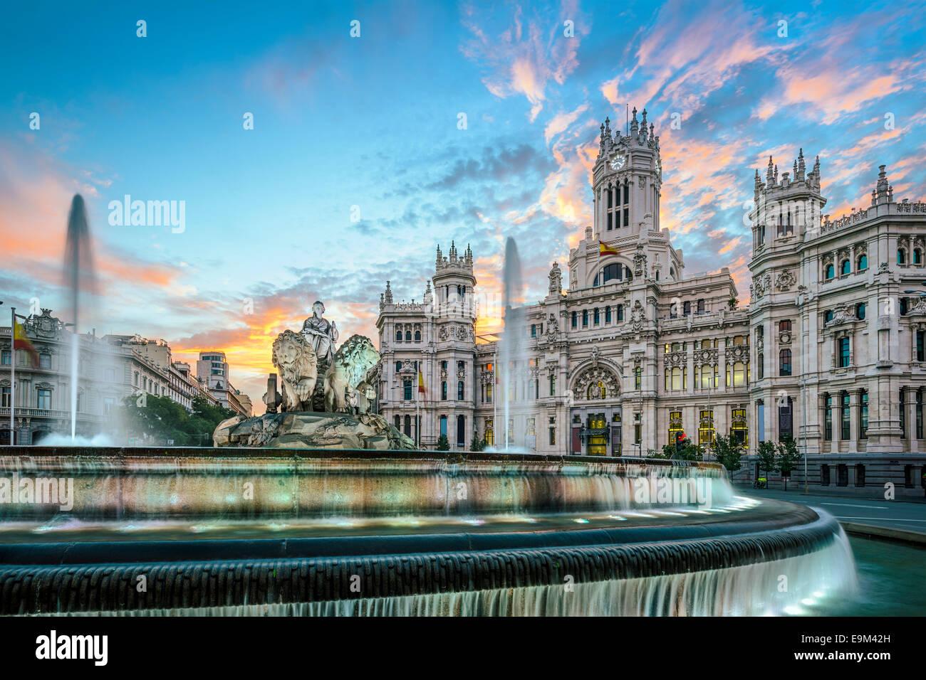 Madrid, España en el Palacio de Comunicaciones. Imagen De Stock