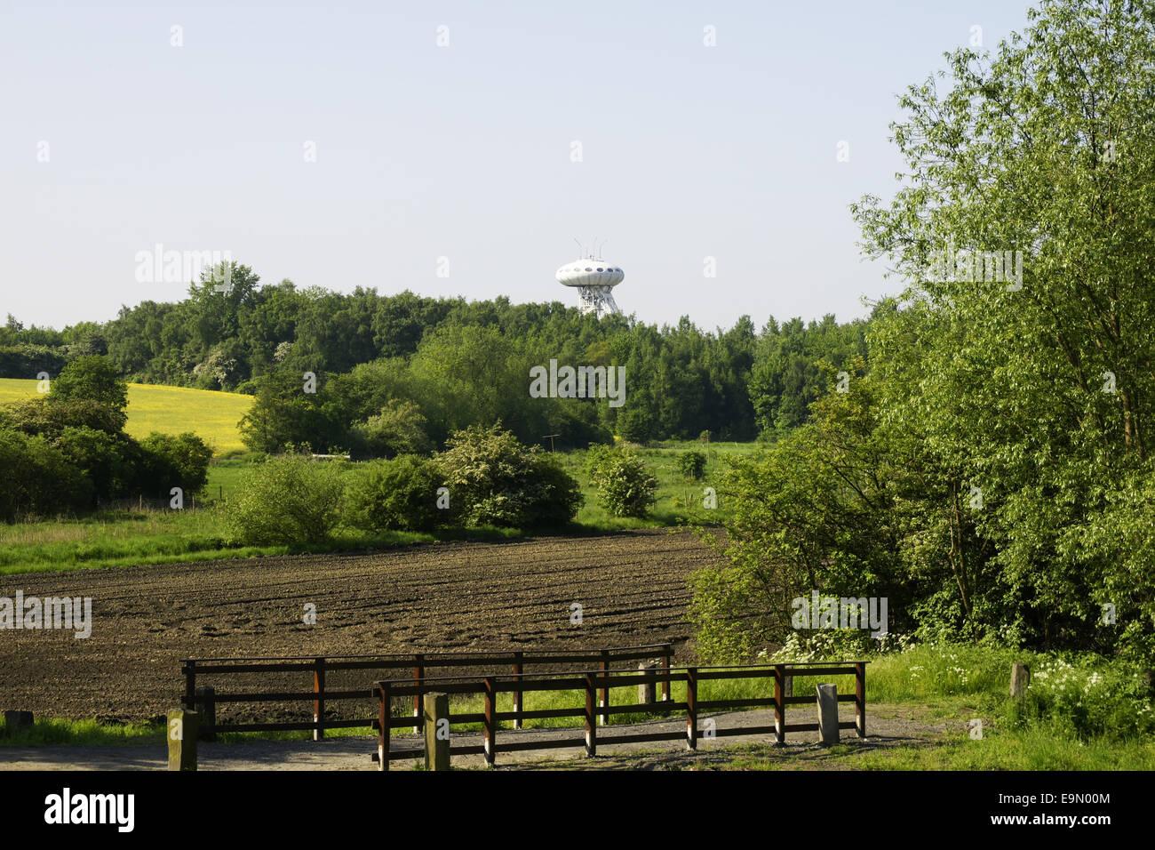 (Colani-Egg Luentec-Tower) en Luenen, Alemania Imagen De Stock