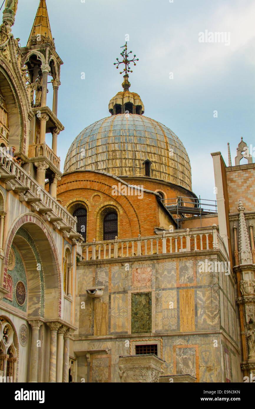La Basílica de San Marco, Venecia Foto de stock