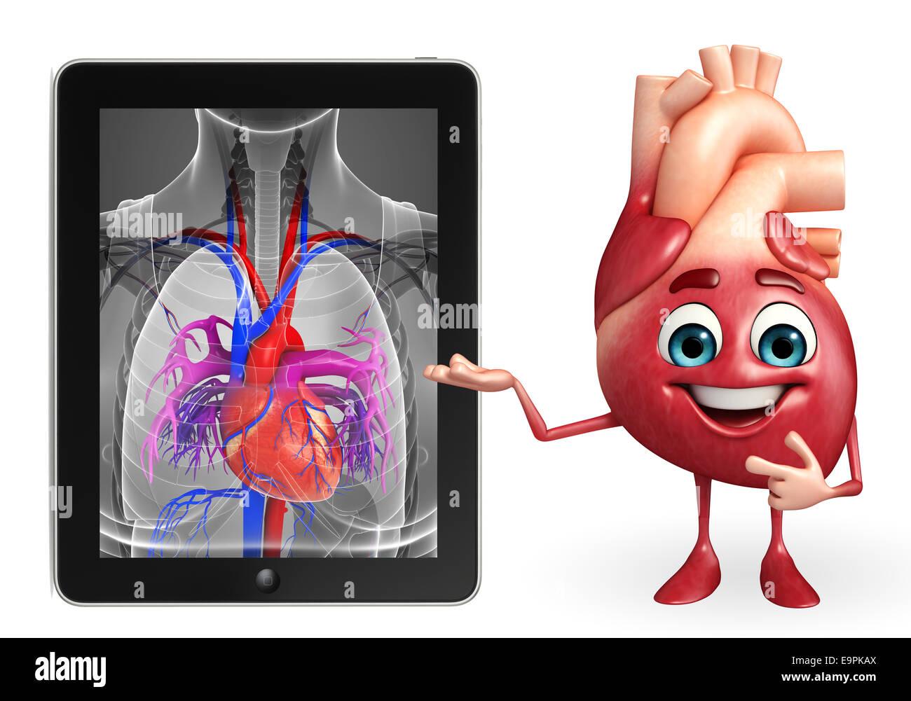 Personaje de dibujos animados de corazón con corazón Anatomía Foto ...