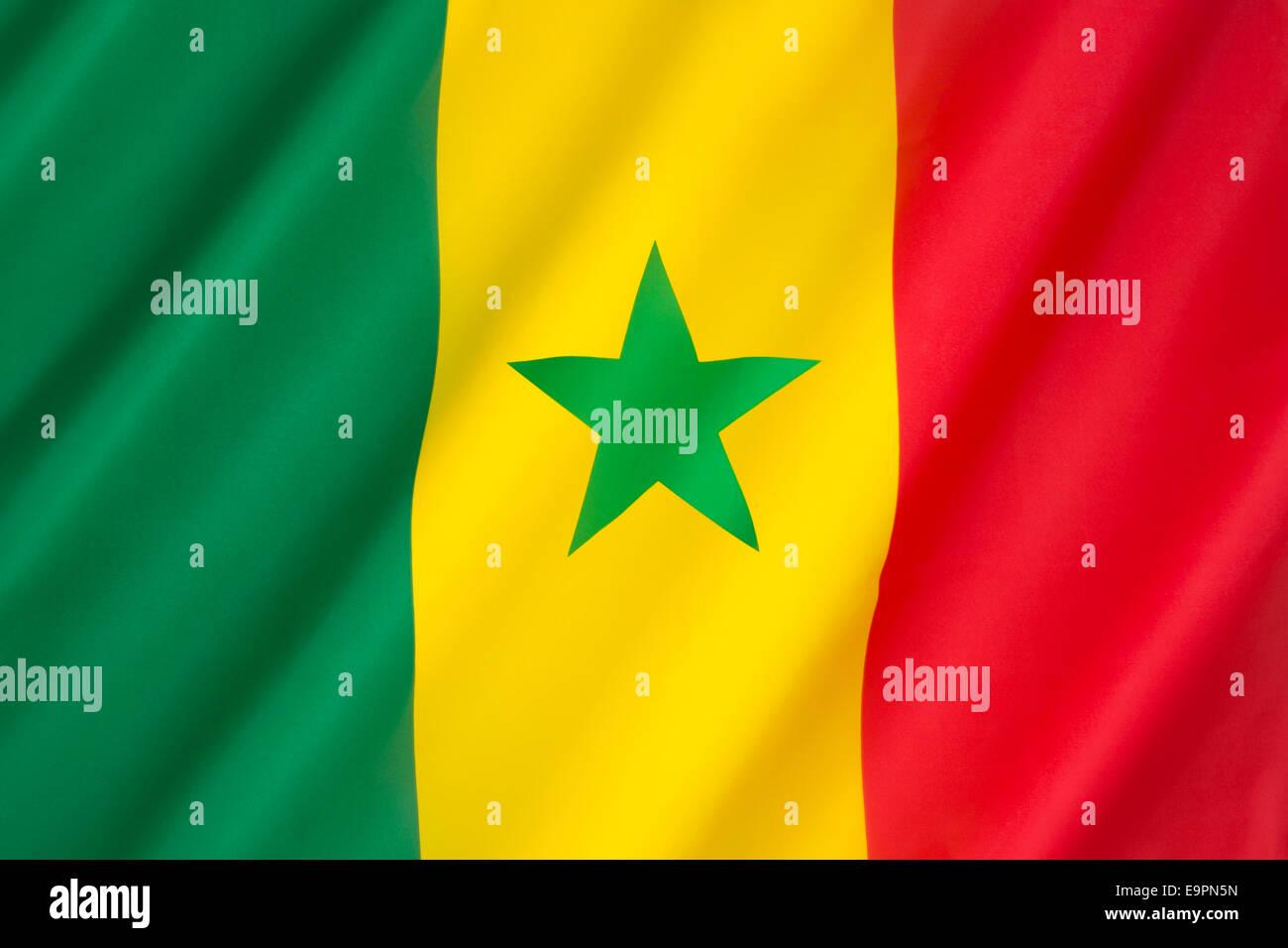 Bandera de Senegal Imagen De Stock