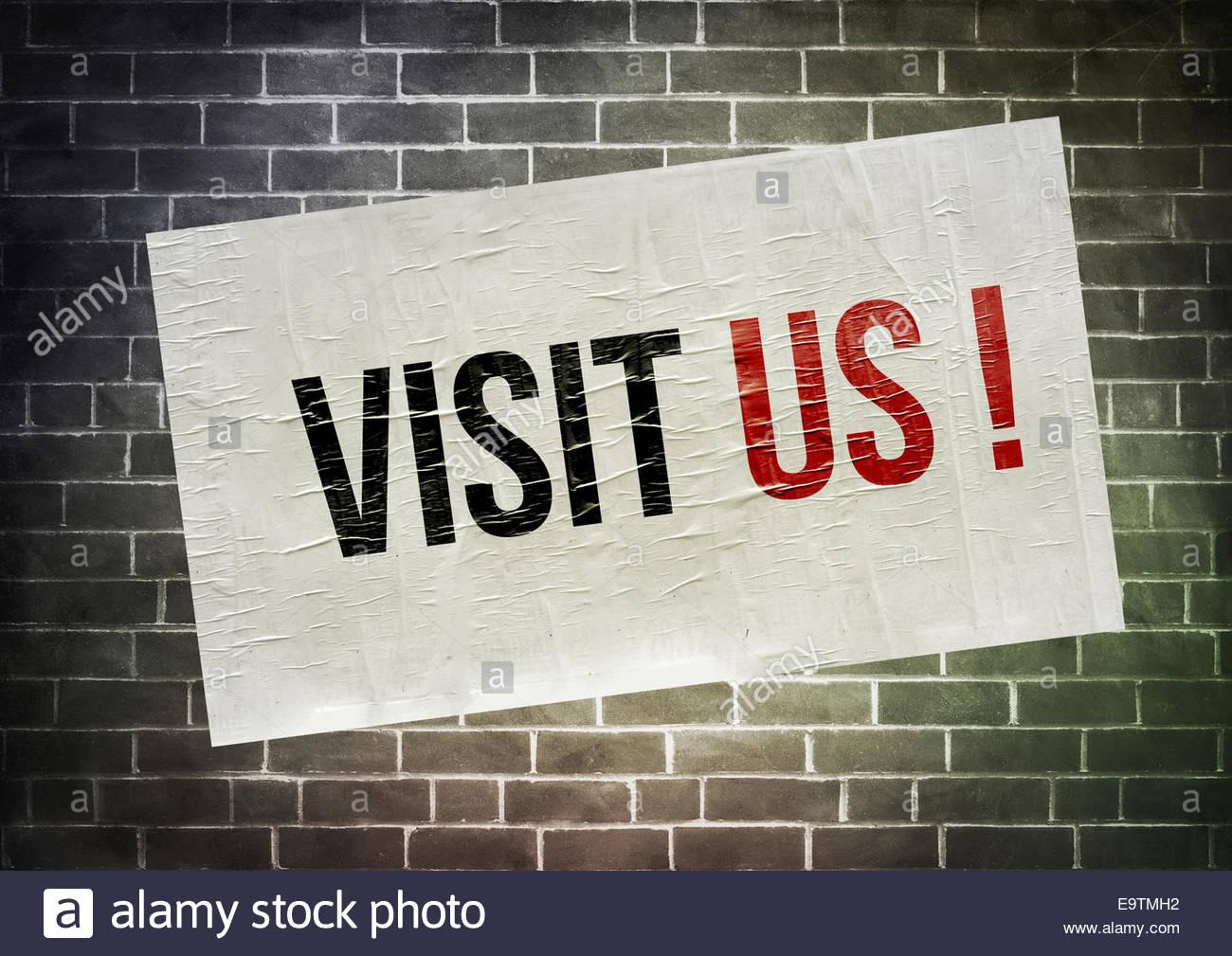 Nos visitan - poster concepto icono Imagen De Stock